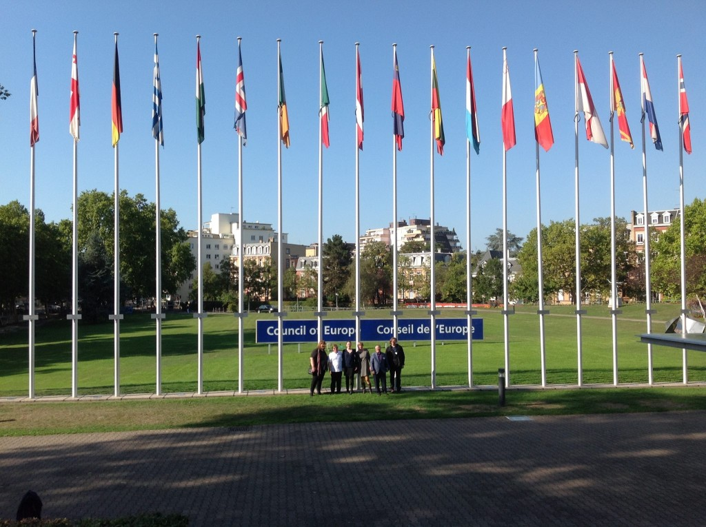 Board Members of OII Europe at the Council of Europe, Strasbourg 2015