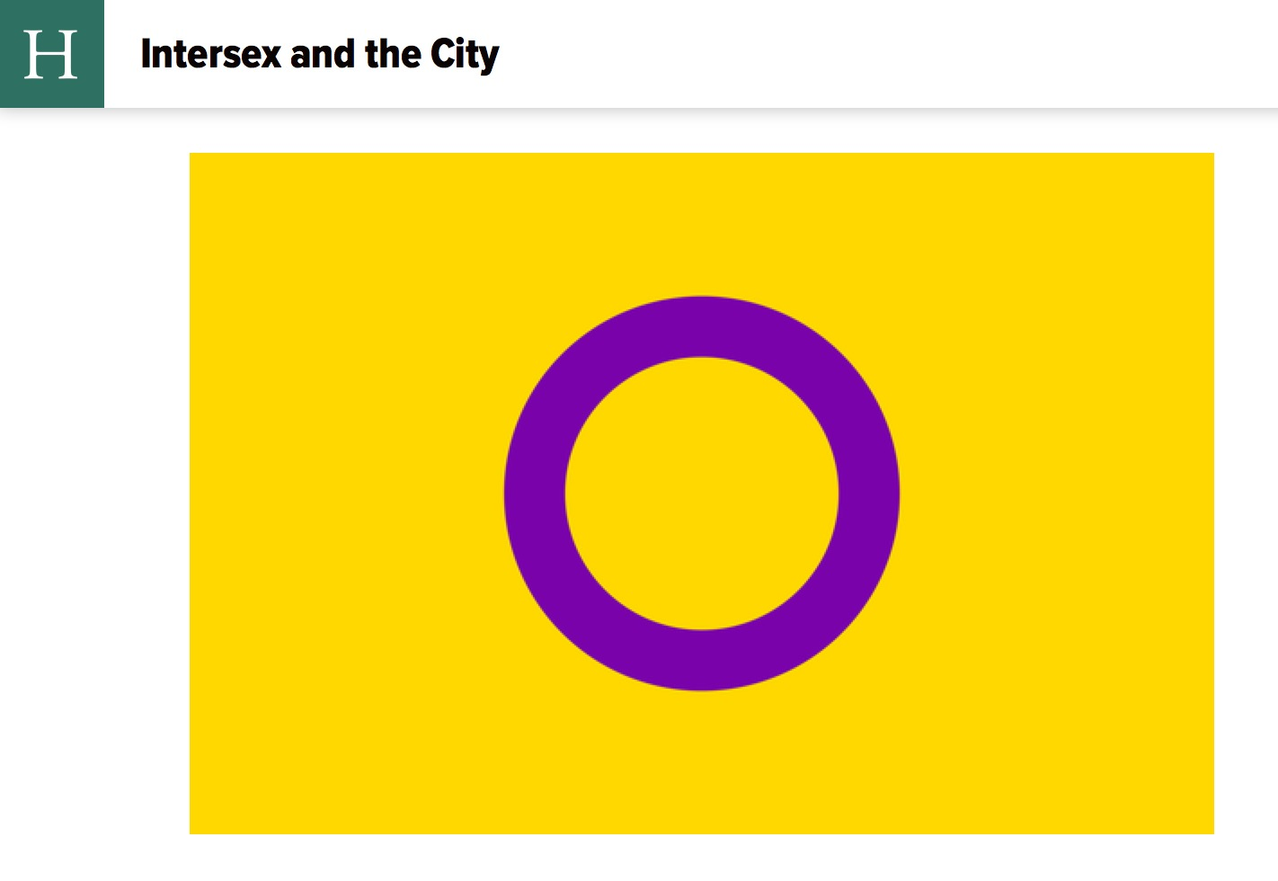 INTERVIEW: Intersex and the City