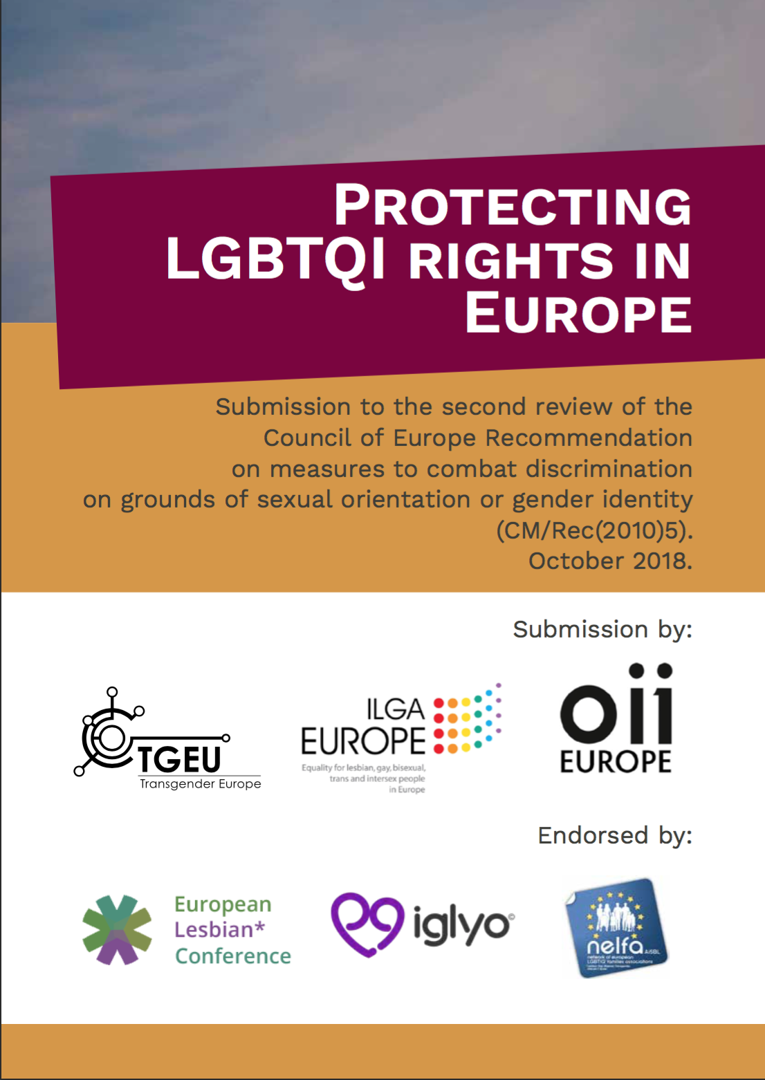 Protecting LGBTQI rights in Europe. Submission to CM/Rec(2010)5