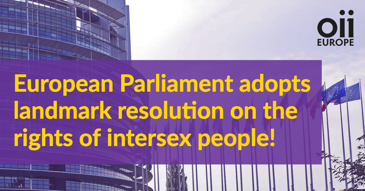 A Milestone for Intersex Rights: The European Parliament adopts landmark resolution on the rights of intersex people