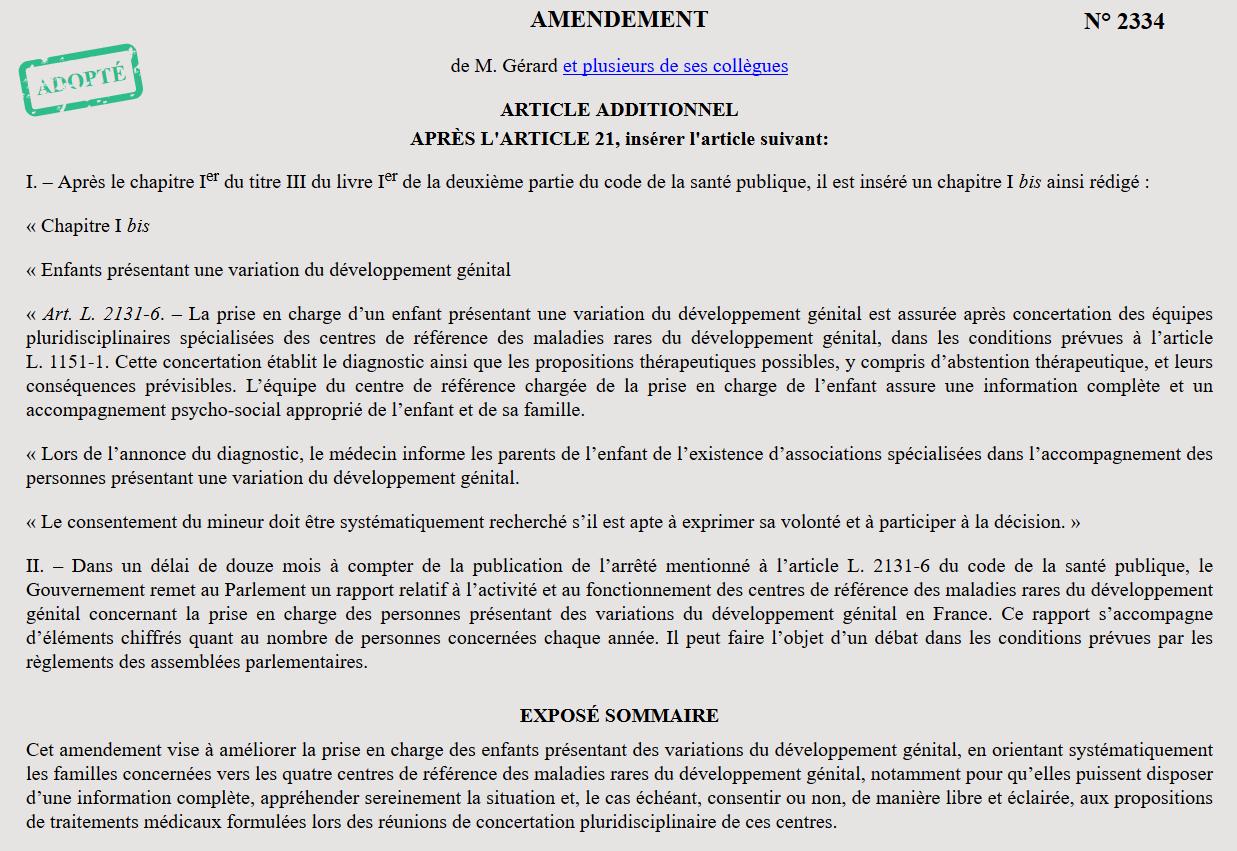 France lacks understanding of intersex human rights violations