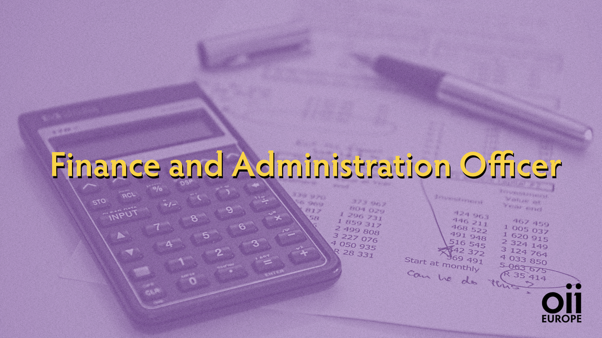 Call for the position of Finance and Administration Officer