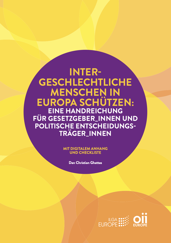 Intergeschlechtliche Menschen in Europa schützen: Ein Toolkit für Gesetzgeber_innen und politische Entscheidungsträger_innen